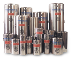 open mouth cryogenic dewar flasks in all sizes