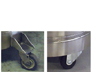 casters for cryogenic containers