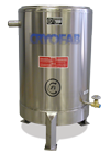 custom cryogenic tank with legs and drain
