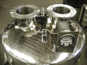 custom cryogenic tank with dual ports and gauge