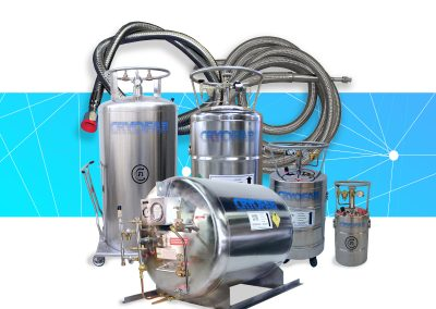 liquid nitrogen tanks and hose