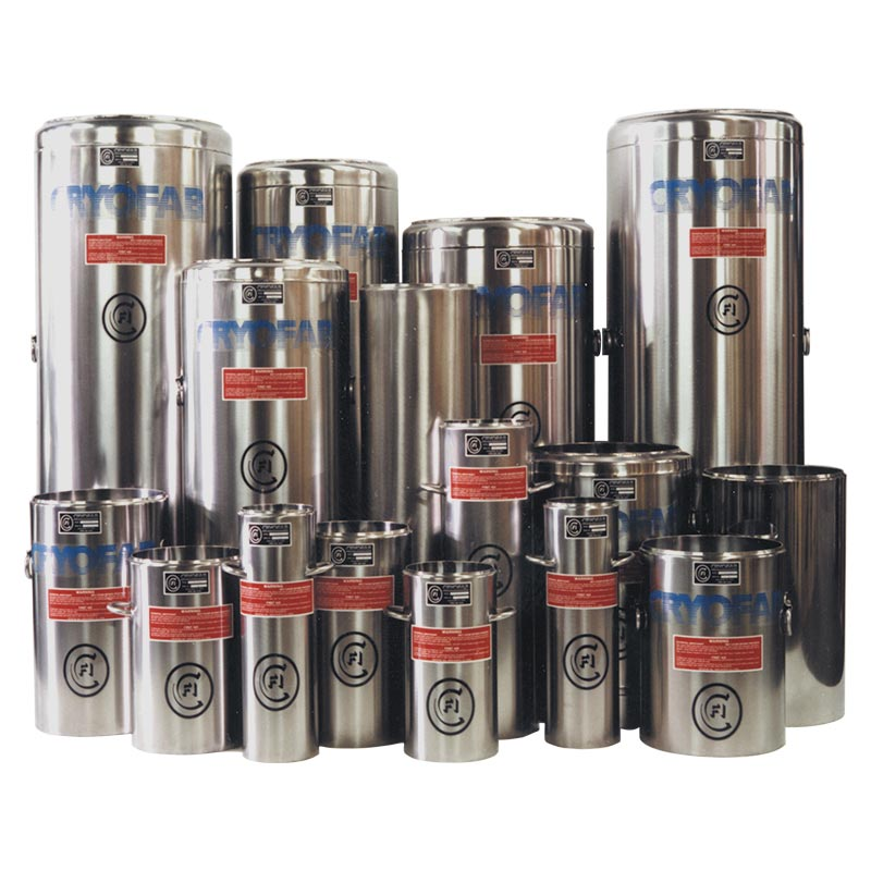 cryogenic dewar flasks in all sizes