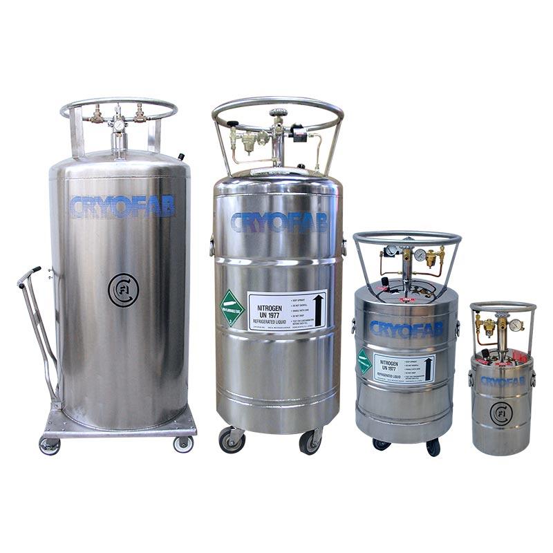 liquid nitrogen dewars/tanks