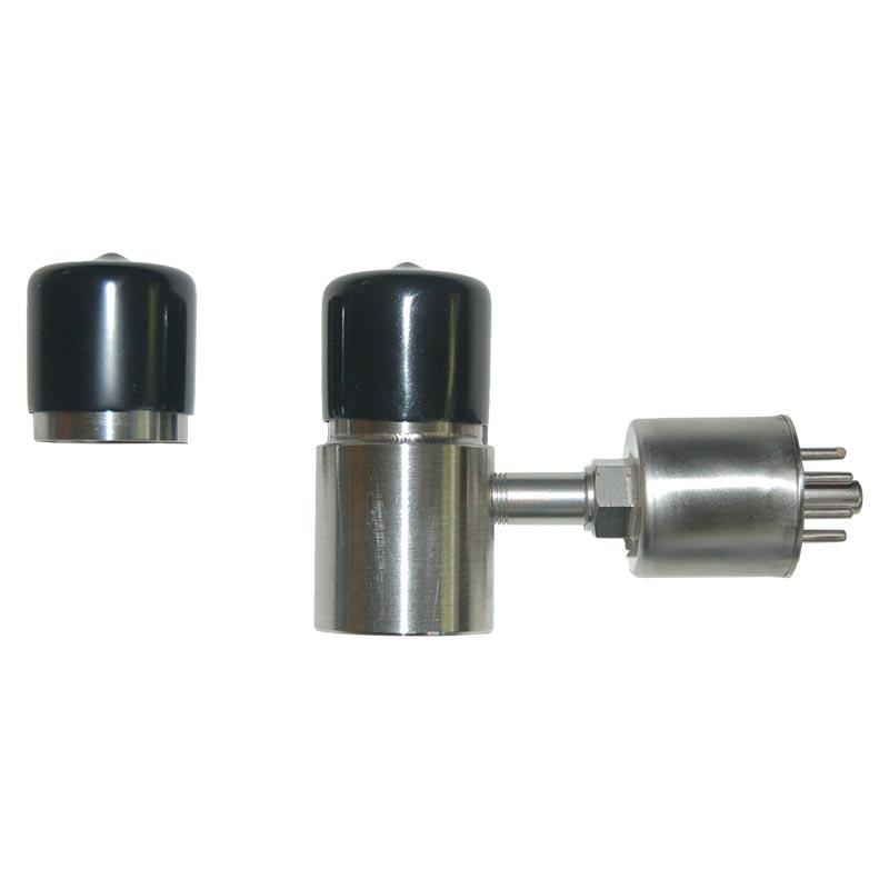 cryogenic vacuum valve with side port