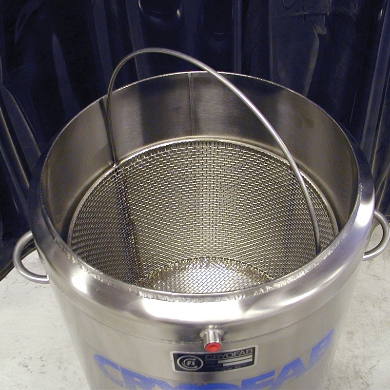 optional dipping bucket for cryo dewar