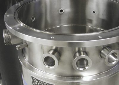 optional flanged top for cryogenic dewar