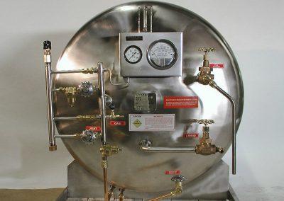 front-mounted cryo tank plumbing