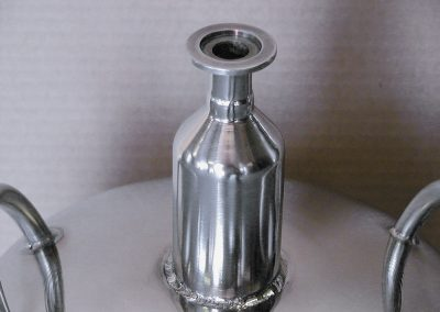 optional neck for low-pressure cryogenic container