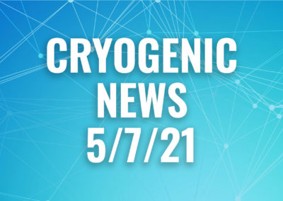 Cryogenic News May 7, 2021